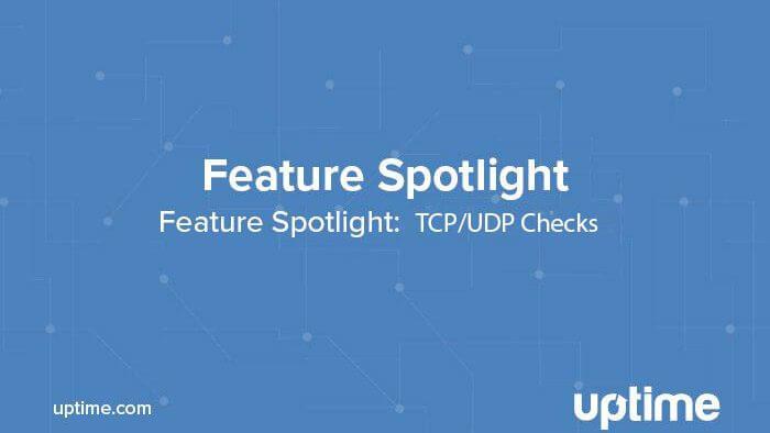 Uptime.com Feature Spotlight TCP/UDP