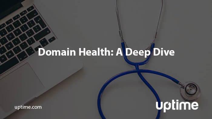 domain health uptime.com blog post title graphic