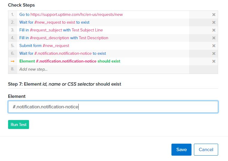 transaction check uptime.com screenshot