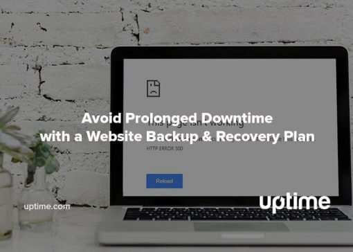 website backup and recovery plan uptime.com