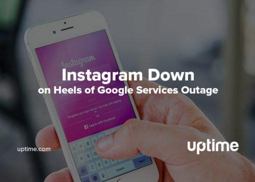 Instagram outage uptime.com