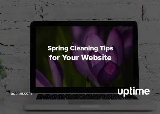 spring cleaning website uptime.com