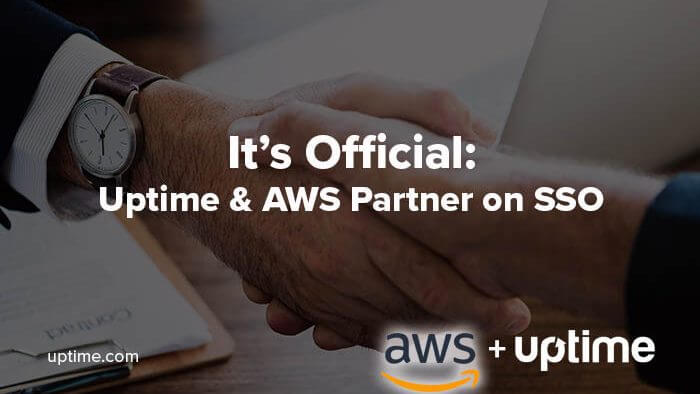 AWS SSO uptime.com partnership