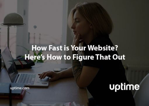 how fast is your website title graphic