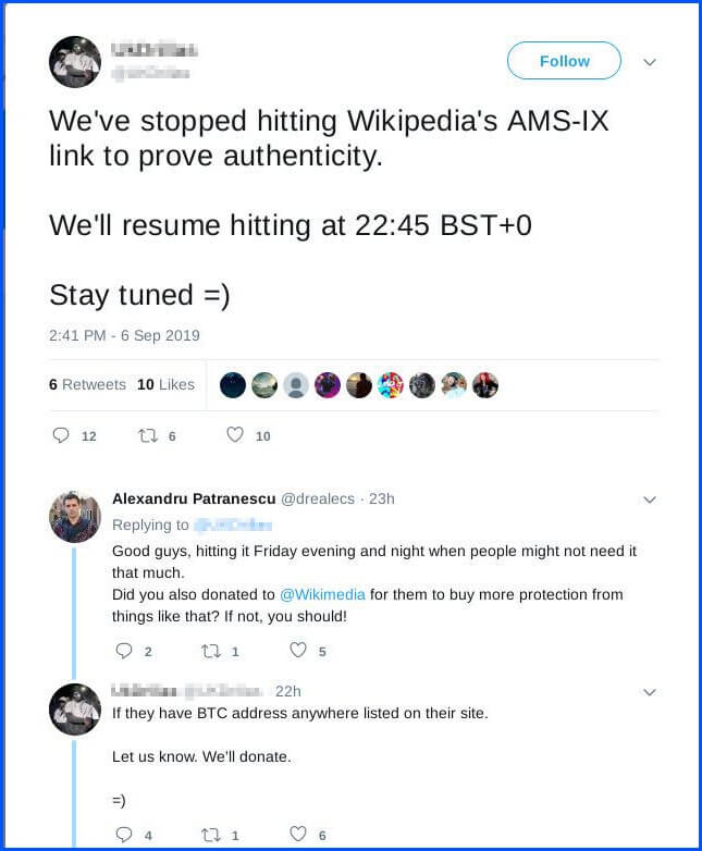 wikipedia down outage report