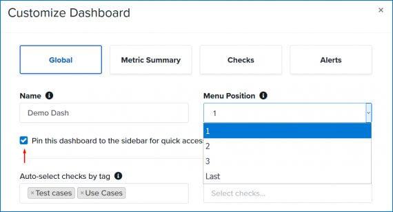 customize dashboard screenshot