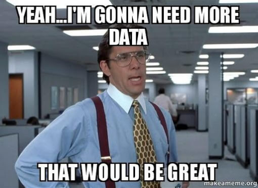 MEME emphasizing importance of data for performance audit