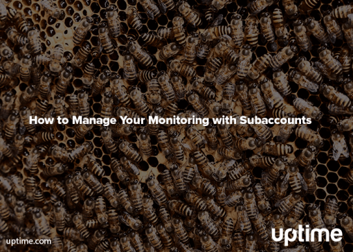 monitoring with subaccounts